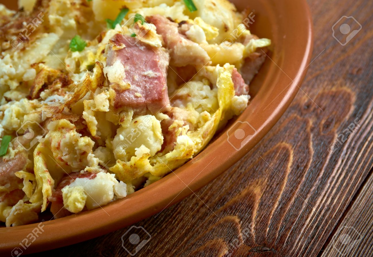 Bauernfruhstuck Farmer S Breakfast German Country Breakfast Dish Made From Fried Potatoes Eggs Onions