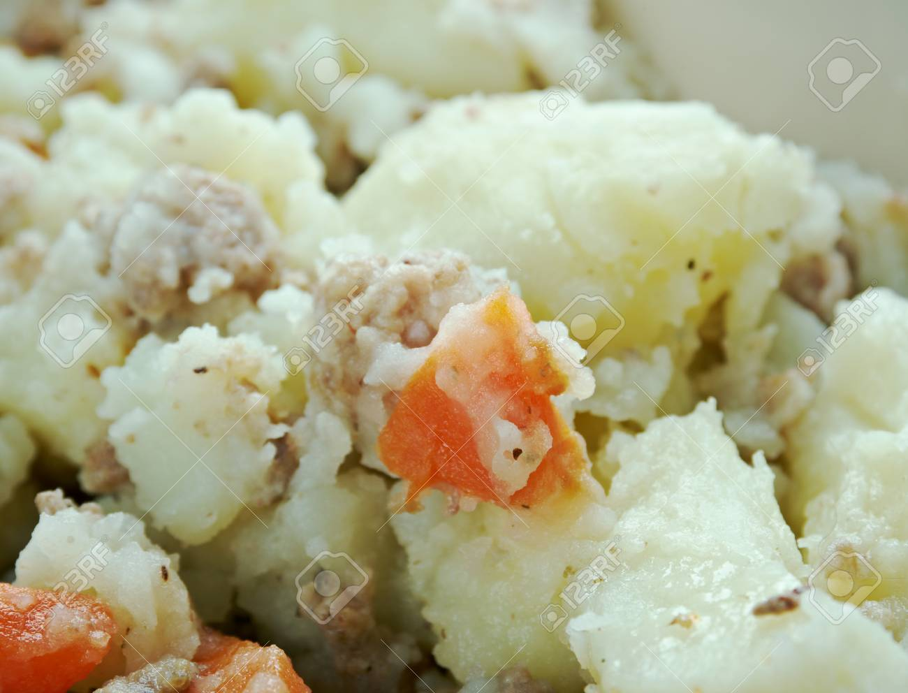 Stovies - Scottish dish based on potatoes contains potatoes with,