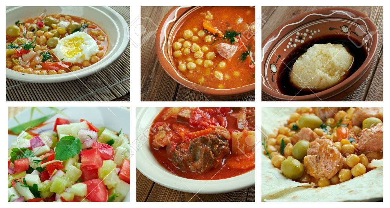 Denrees Alimentaires Fixe Cuisine Collage Traditionnelle Africaine