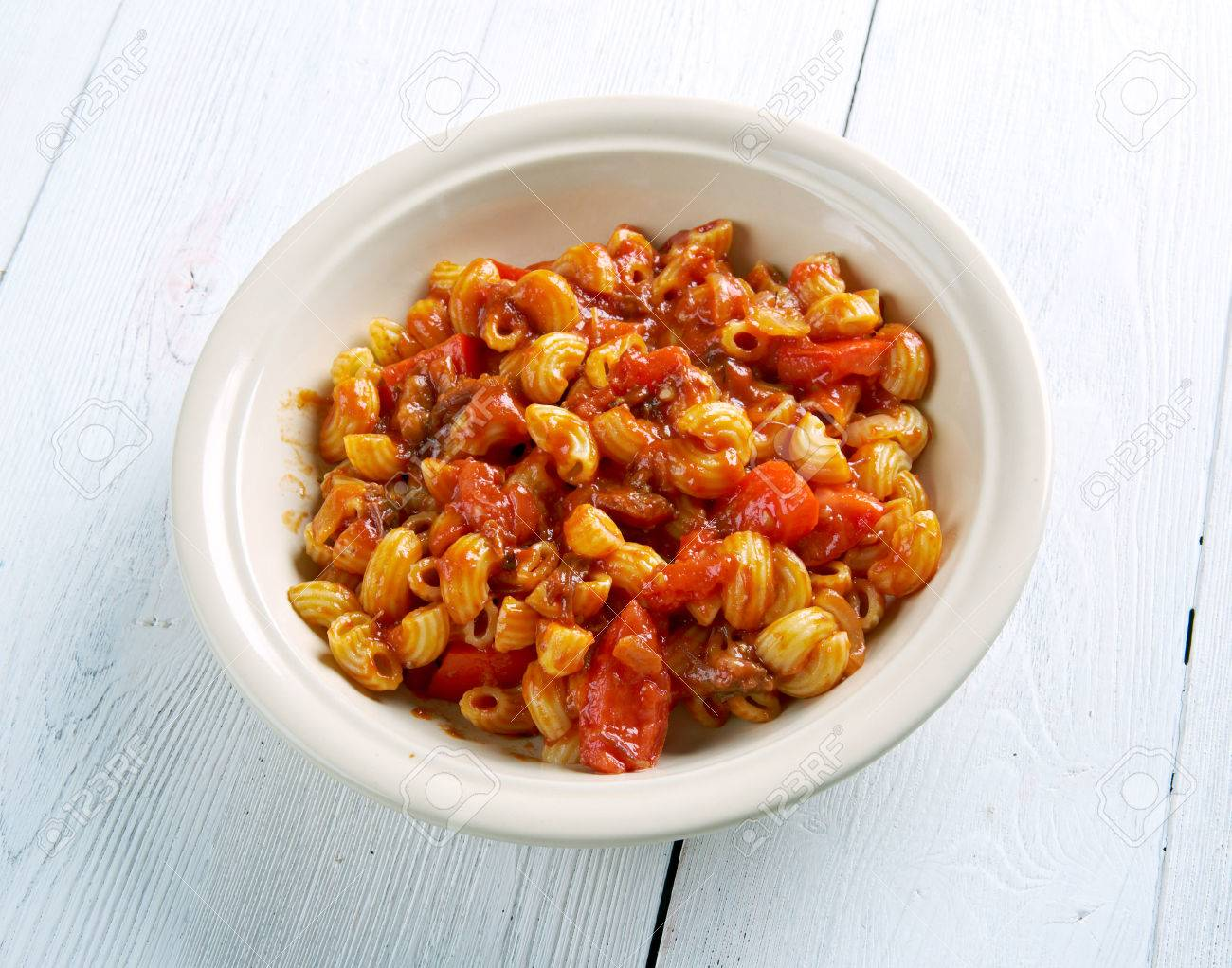 American Chop Suey - American Pasta Dish , Beef As Tomato Sauce ...