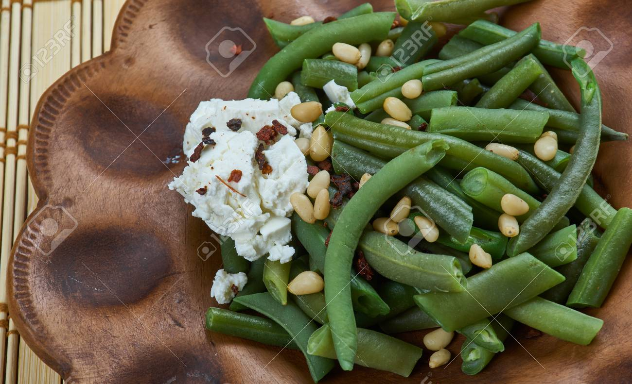 Haricots Verts Algeriens Cuisine Africaine Du Maghreb Banque D