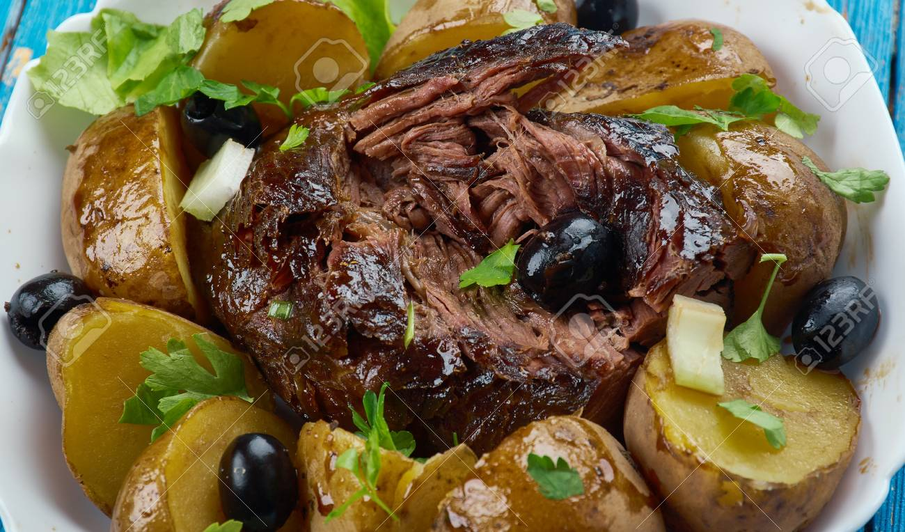 Slow Cooker Greek Lamb Kleftiko Close Up Stock Photo Picture And Royalty Free Image Image 102918323