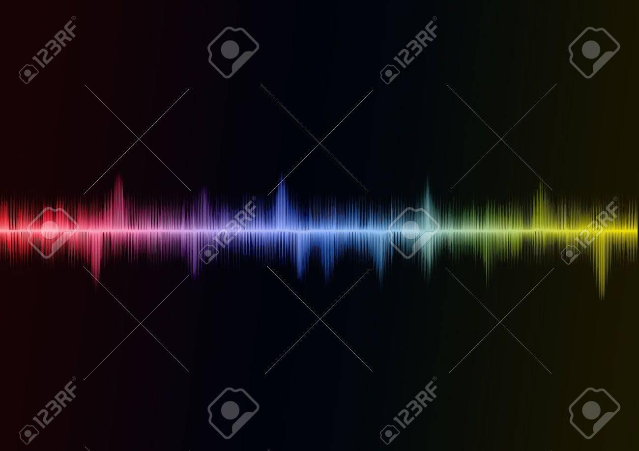 Rainbow Sound wave Stock Photo - 7605871