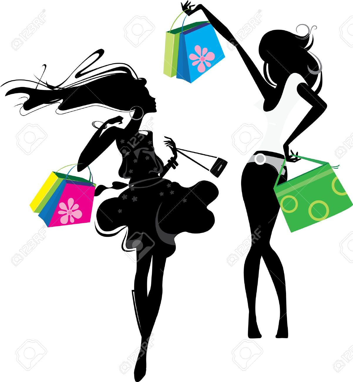 Beautiful Girl With Shoping Bsgs Stock Image - Image: 21163871