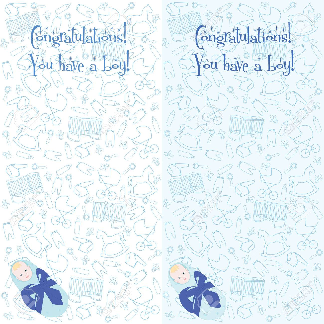 congratulations you have a boy little newborn baby boy baby in