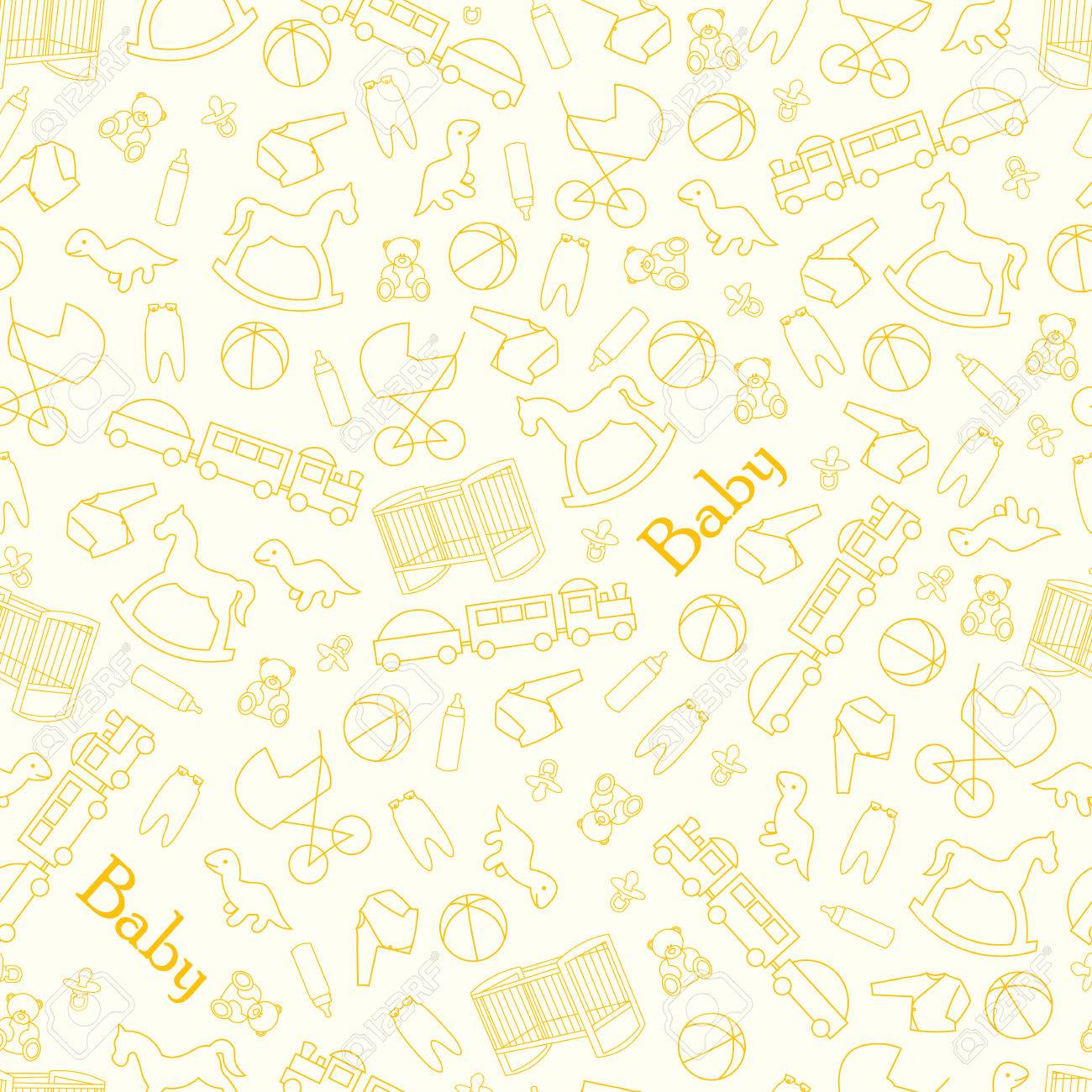 baby background for baby. yellow background for baby with toys