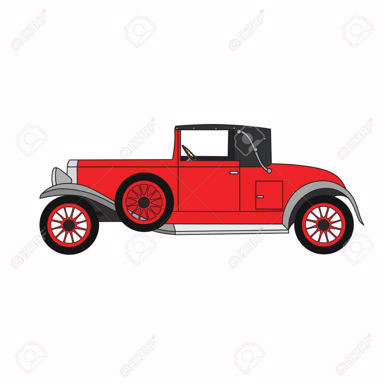 Red Cartoon Retro Car Vector Retro Convertible Royalty Free Cliparts Vectors And Stock Illustration Image 55110862