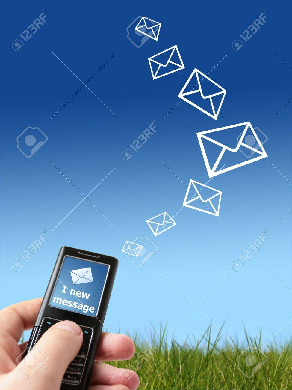 Mobile phone in hand. Communication conceptual image. Stock Photo - 4641512