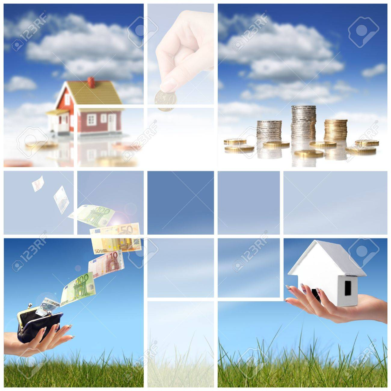 Collage. Invest in real estate concept. Stock Photo - 4823033