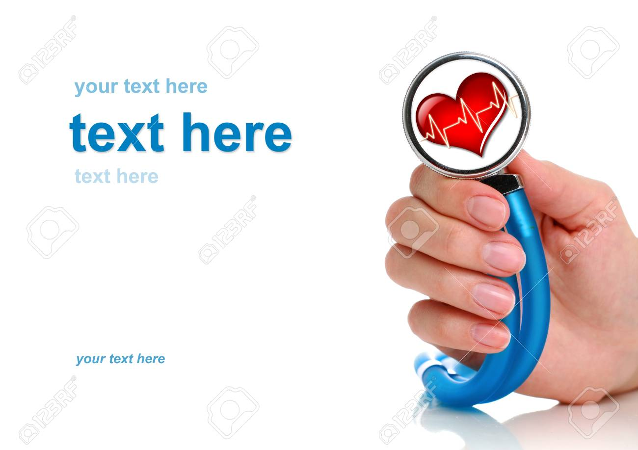 Health care concept. Stethoscope in female hand. Stock Photo - 9019463