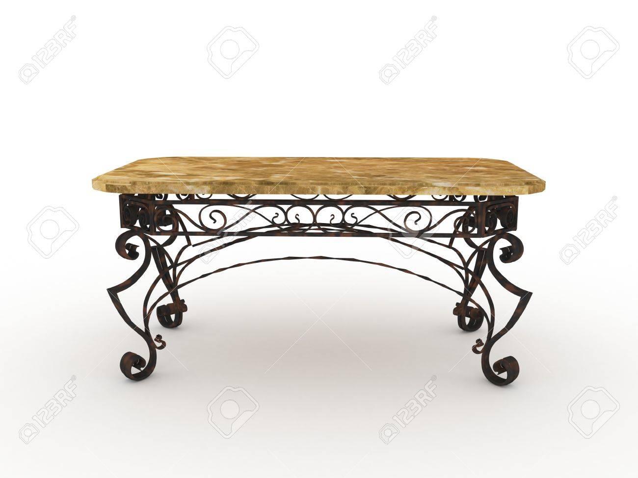 Table en fer forgé, modèle pour la conception de mobilier forgé