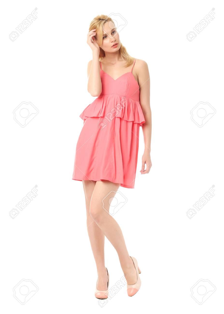 Coral Mini Dress