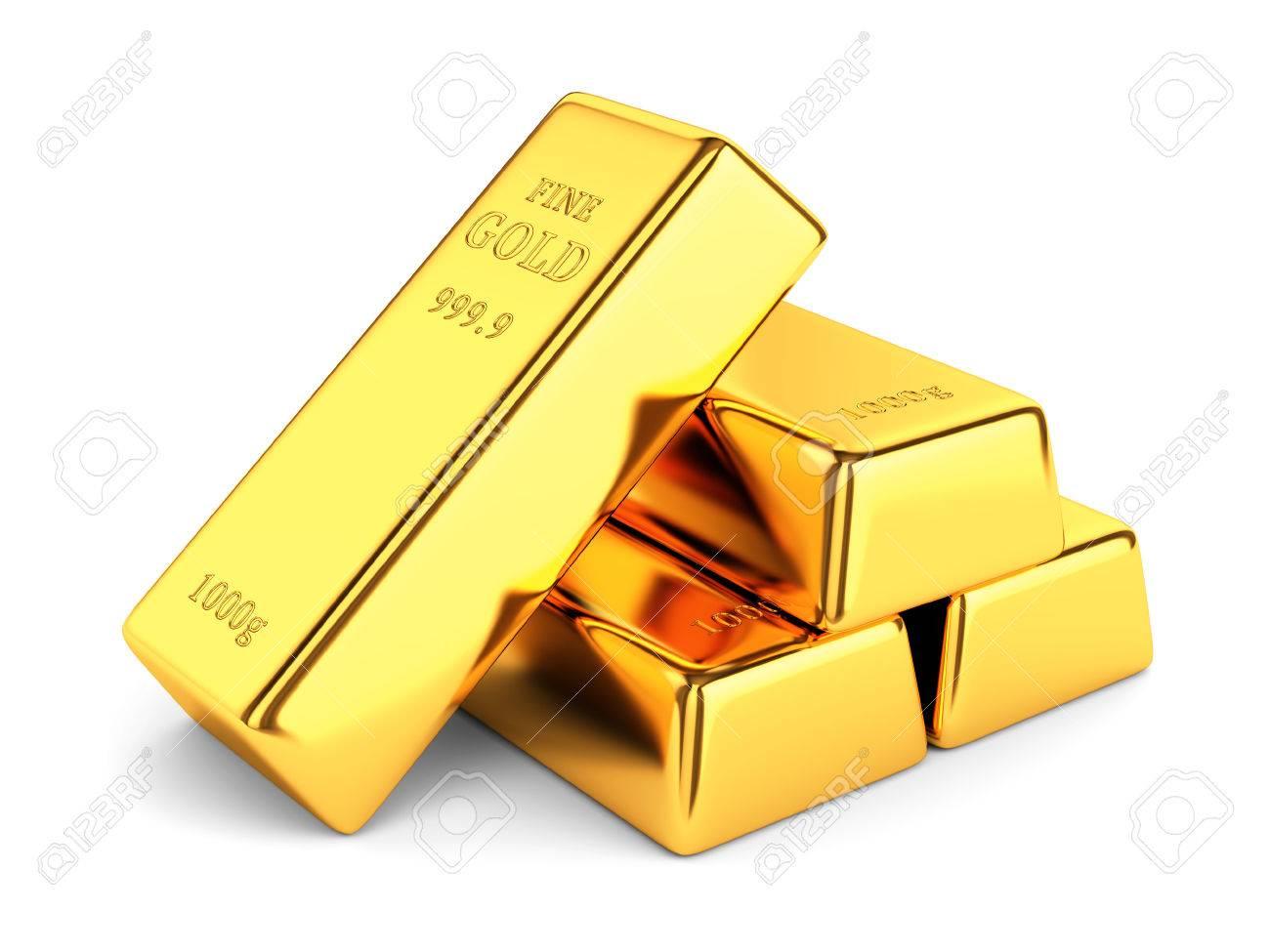 de lingotes de oro