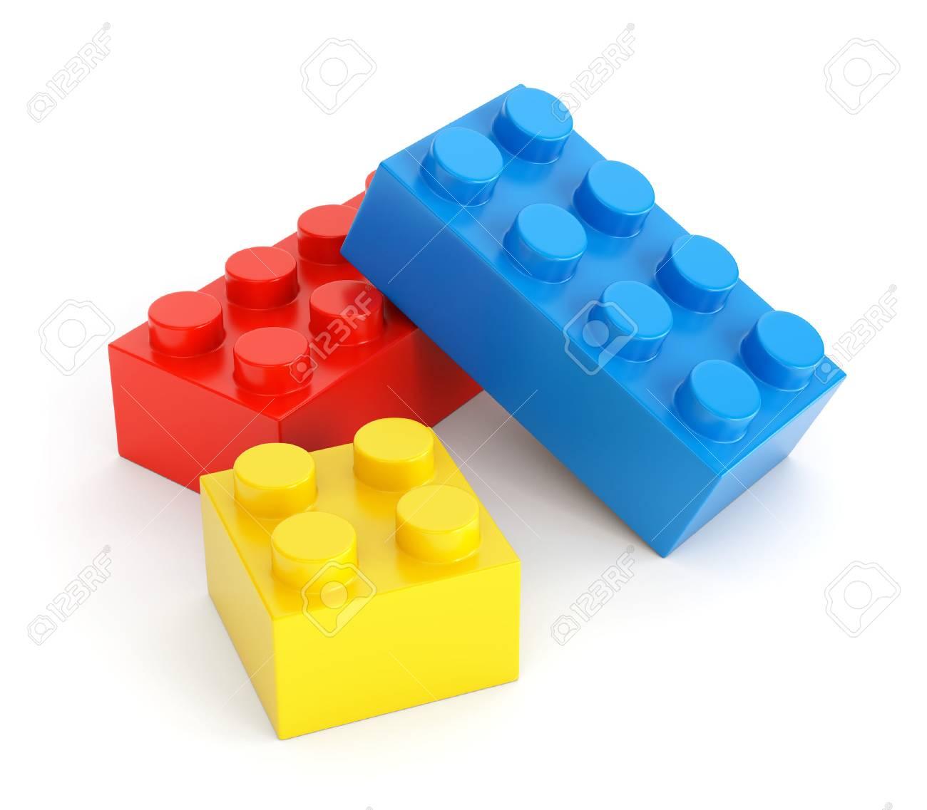 Verbazingwekkend Speelgoed Bouwstenen. Groep Kleurrijke Plastic Bakstenen Die Op QF-27