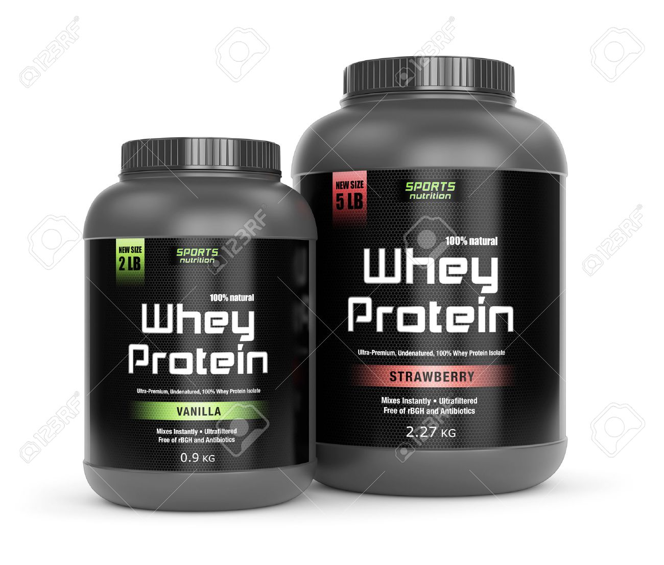 Sports Nutrition Bodybuilding Supplements Two Jars Of Vanilla Stock Photo Picture And Royalty Free Image Image 40310867