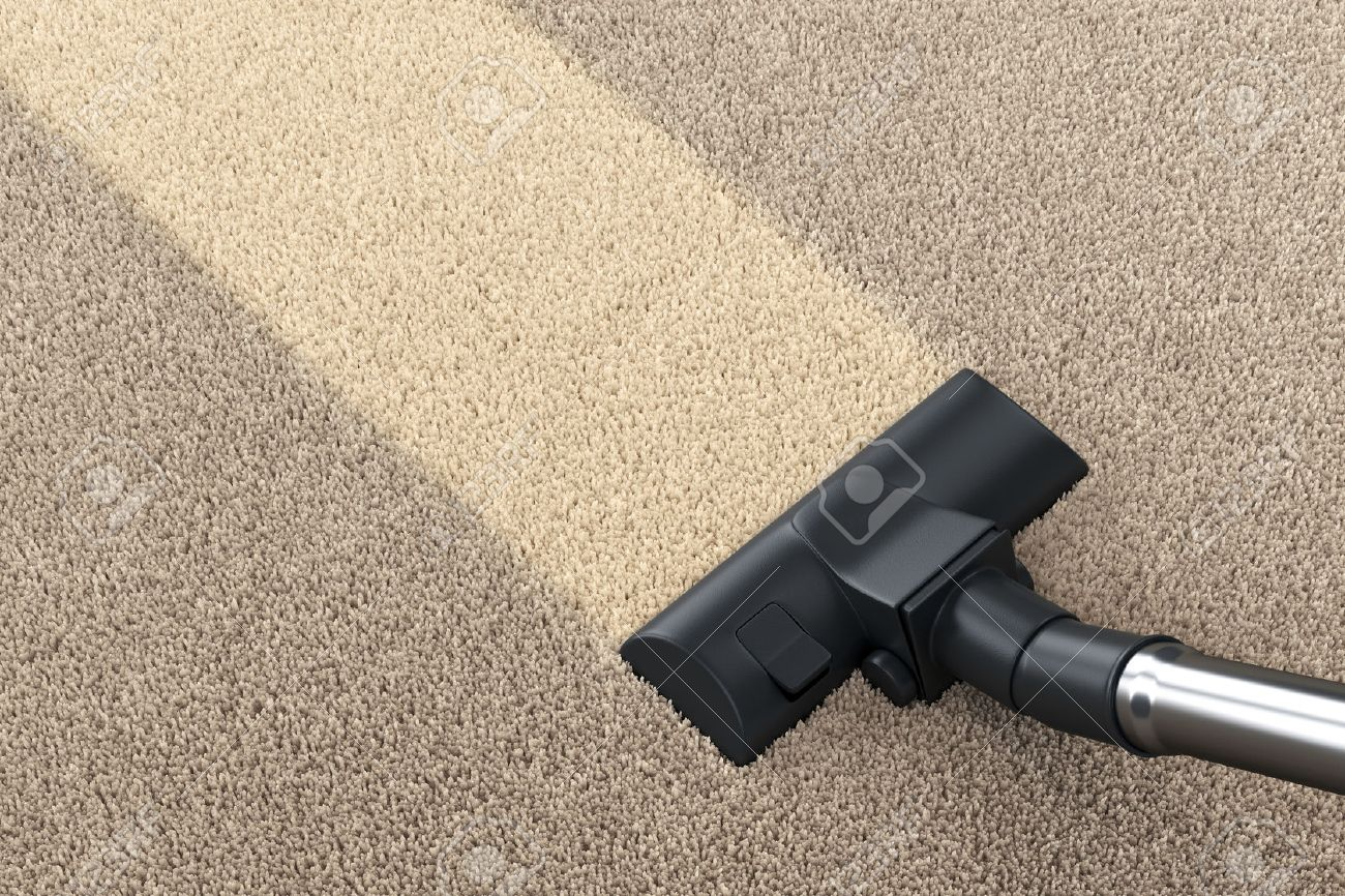 Vacuum Cleaner Brush On Dirty Carpet With Clean Strip. Vacuuming, Cleaning  And Housework Concept. 3D Illustration Stock Photo, Picture And Royalty  Free Image. Image 61192085.