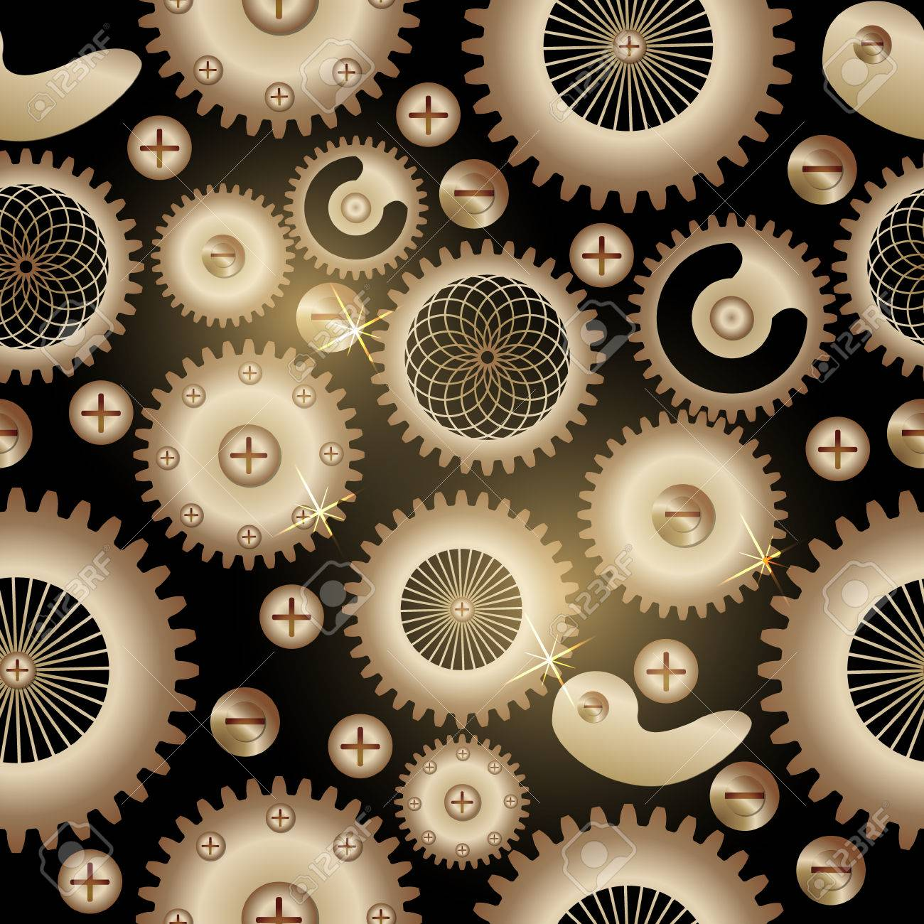 seamless background pattern the steampunk style gears and toothed
