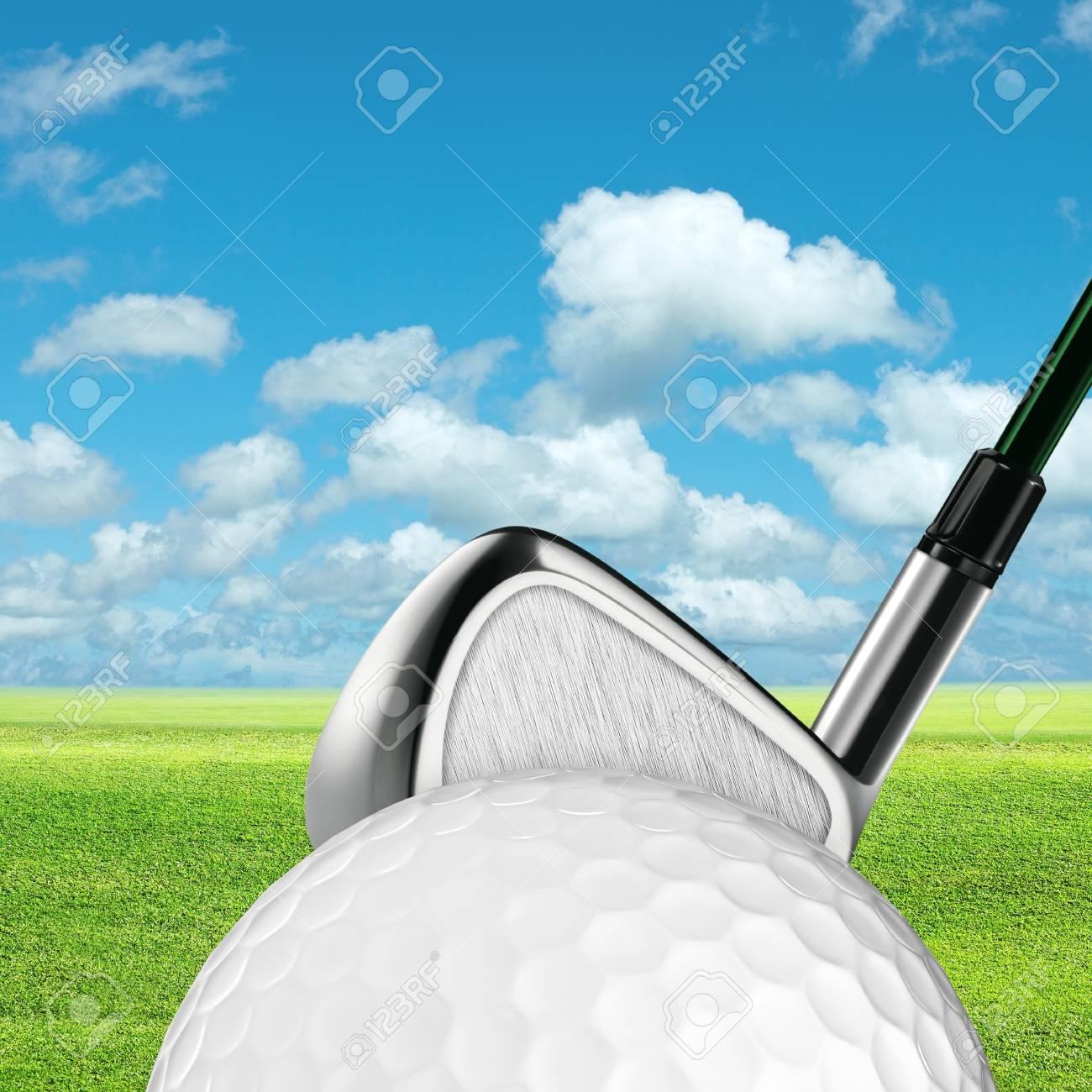 Golf. Square composition. Stock Photo - 11802851