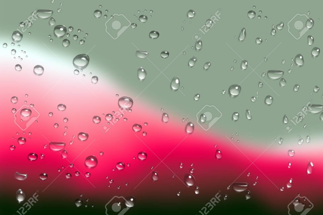 Beautiful Rainy Day Rain Droplet On Mirror Stock Photo Picture And