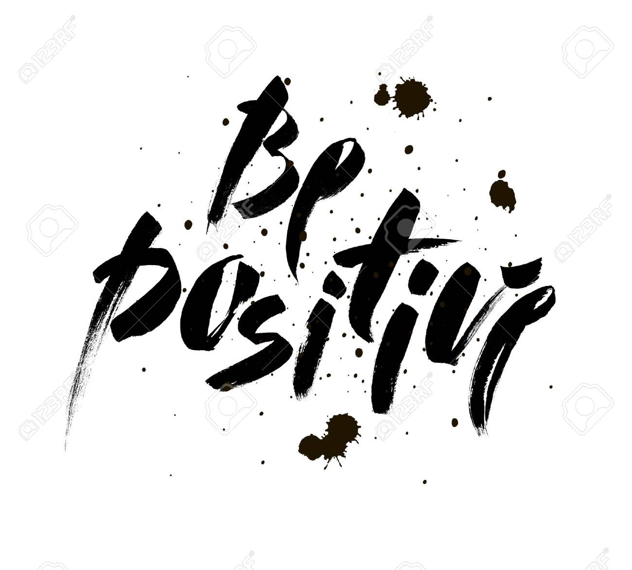Ser Positivo Inspiracional Sobre Feliz Frase De Caligrafia
