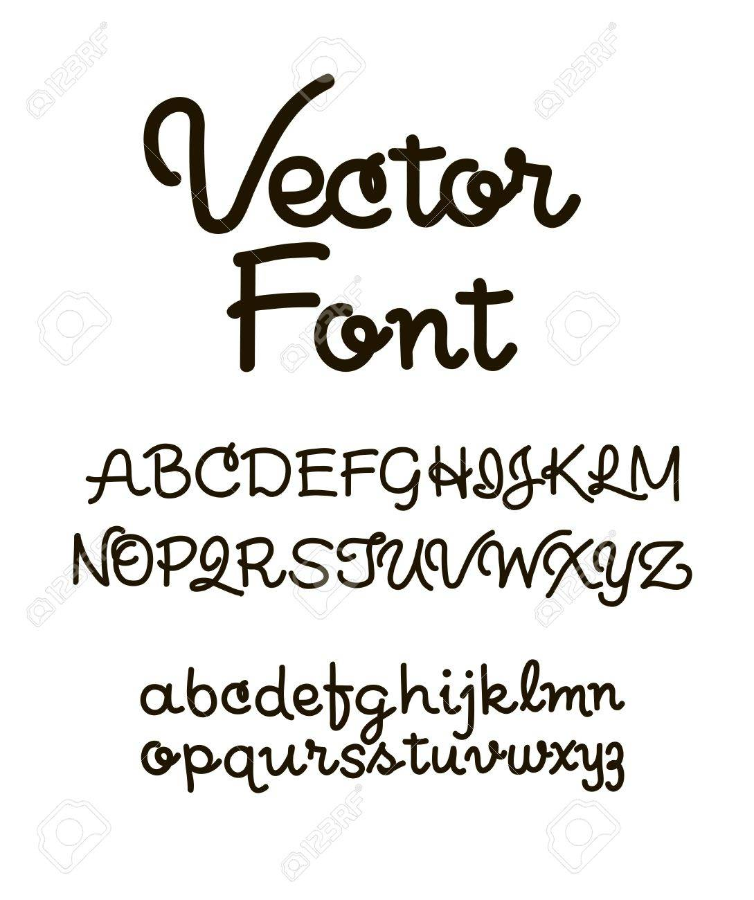 Handwritten Alphabet Letters Vector ABC For Your Design Easy To Use And Edit