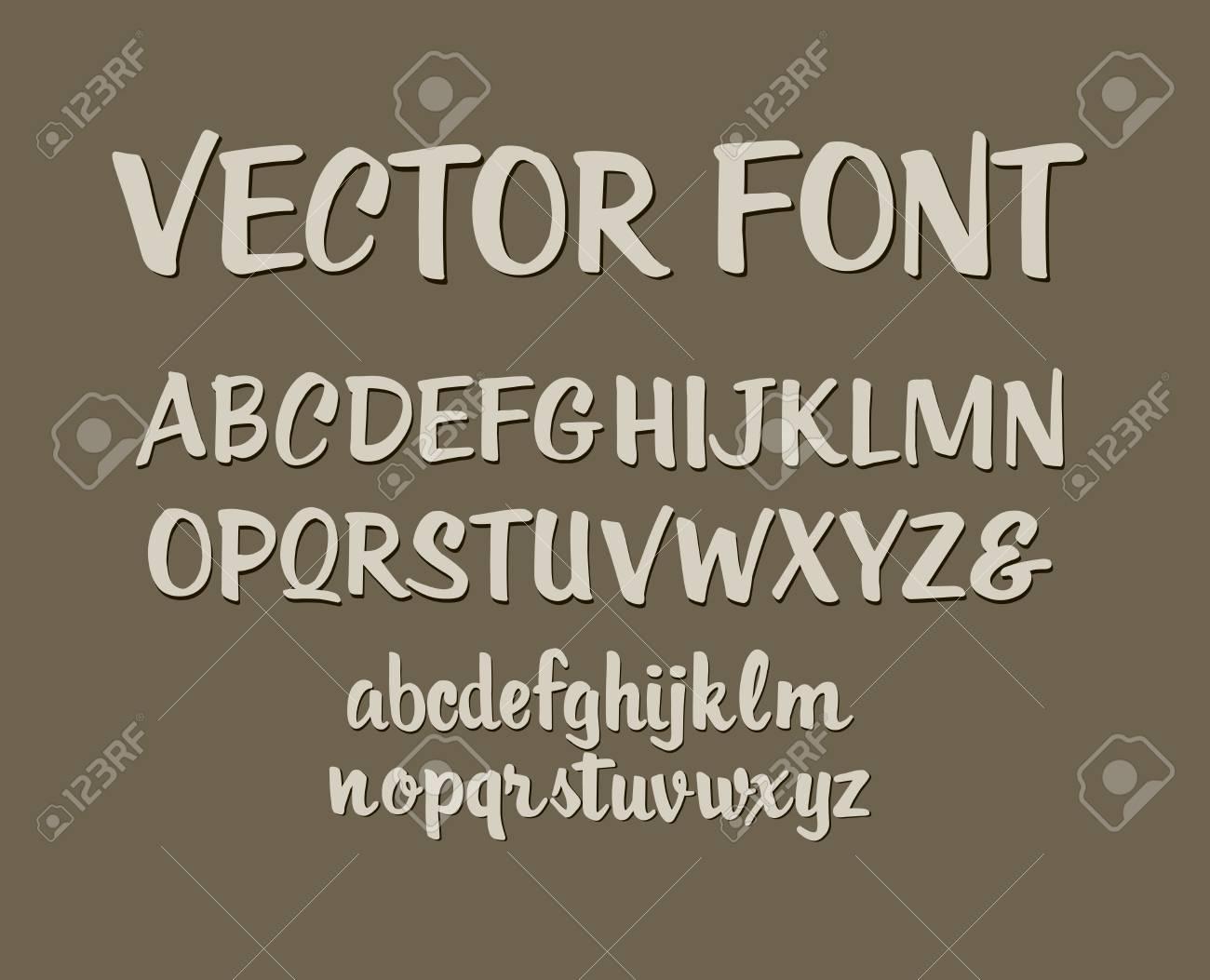 Handwritten Alphabet Letters Design Royalty Free Cliparts Vectors