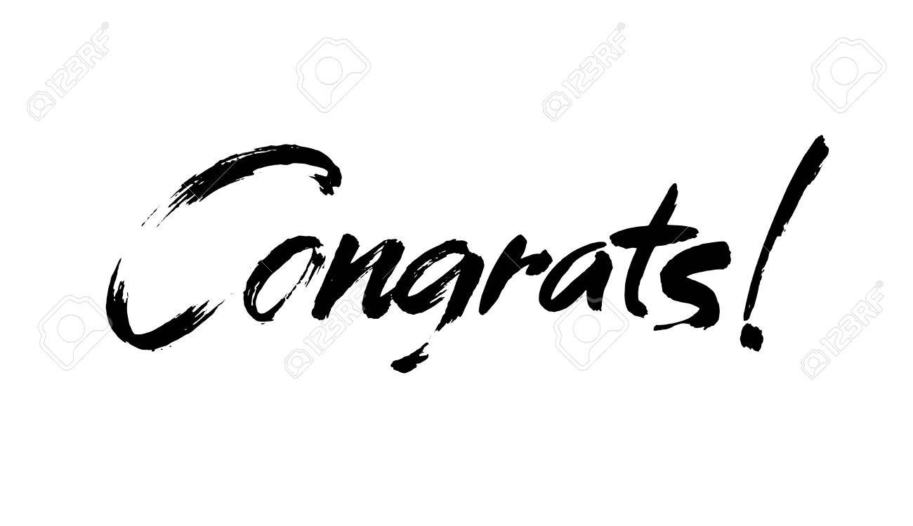 image relating to Congratulations Card Printable named Congrats hand composed lettering for congratulations card, greeting..