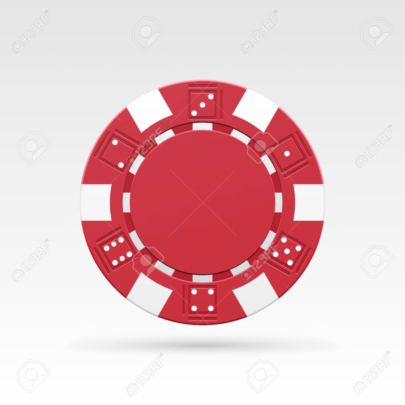 red casino chip