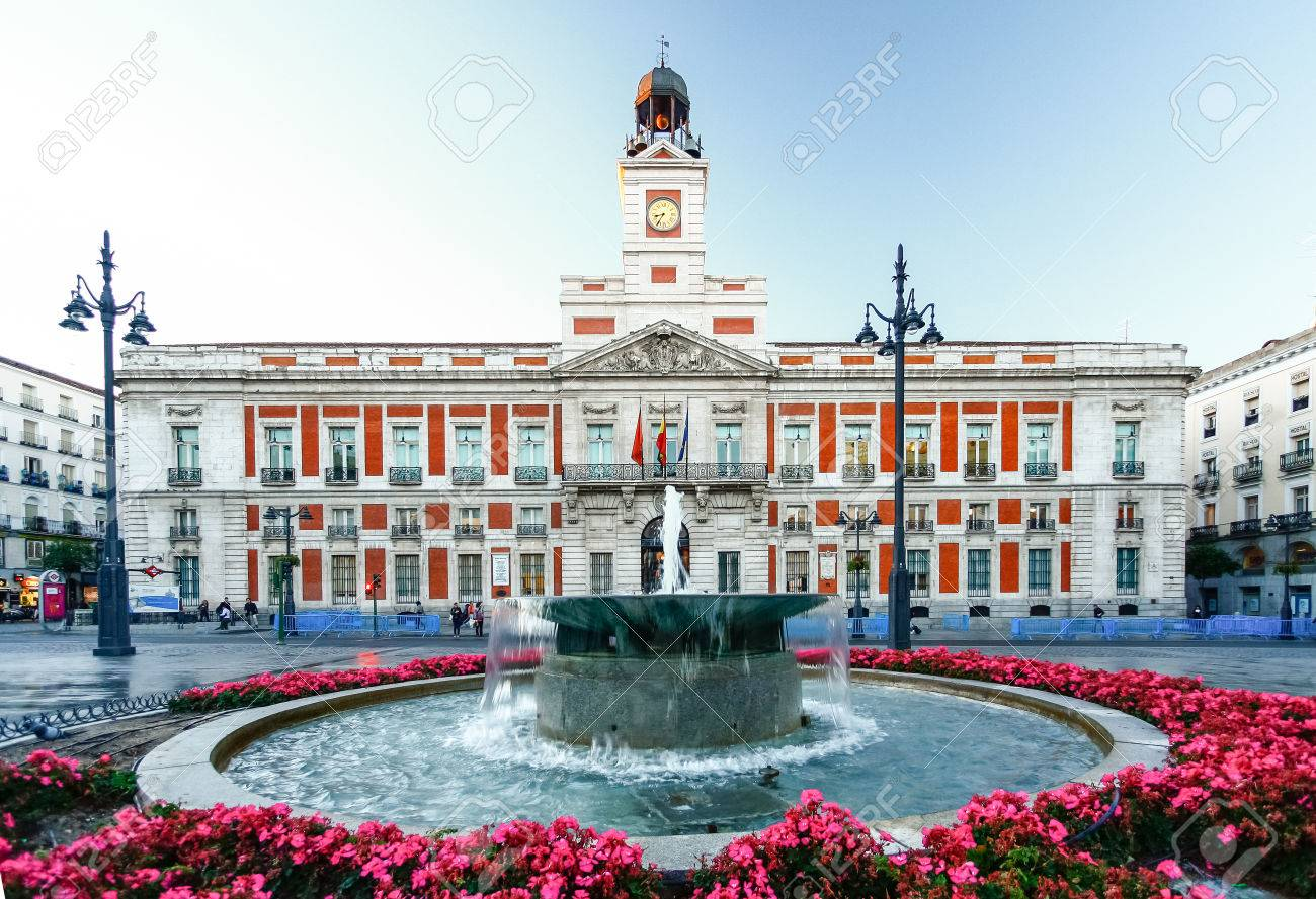 The old Post office at Puerta del Sol, Km 0, Madrid, Spain - 62353006