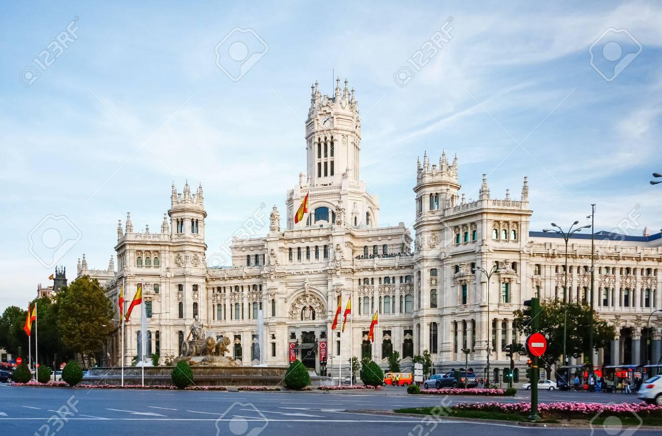Palacio De Comunicaciones At Plaza De Cibeles In Madrid Spain