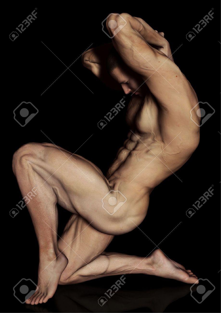 Posing bodybuilder Stock Photo - 9780023