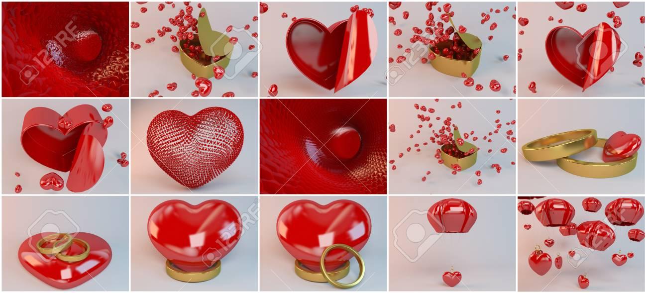 Kerzen Und Herzen Fur Verliebte Und Valentinstag Sammlung Mit Vielen
