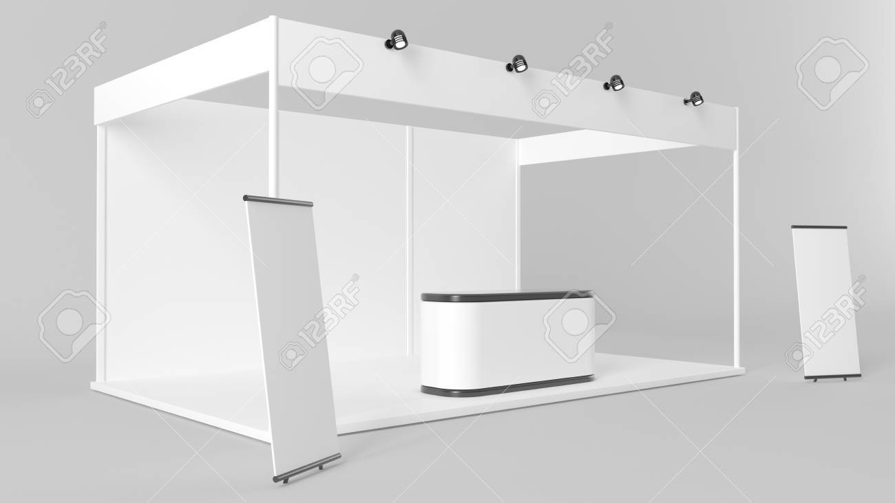 Exhibition Stand White : White creative exhibition stand design booth template corporate