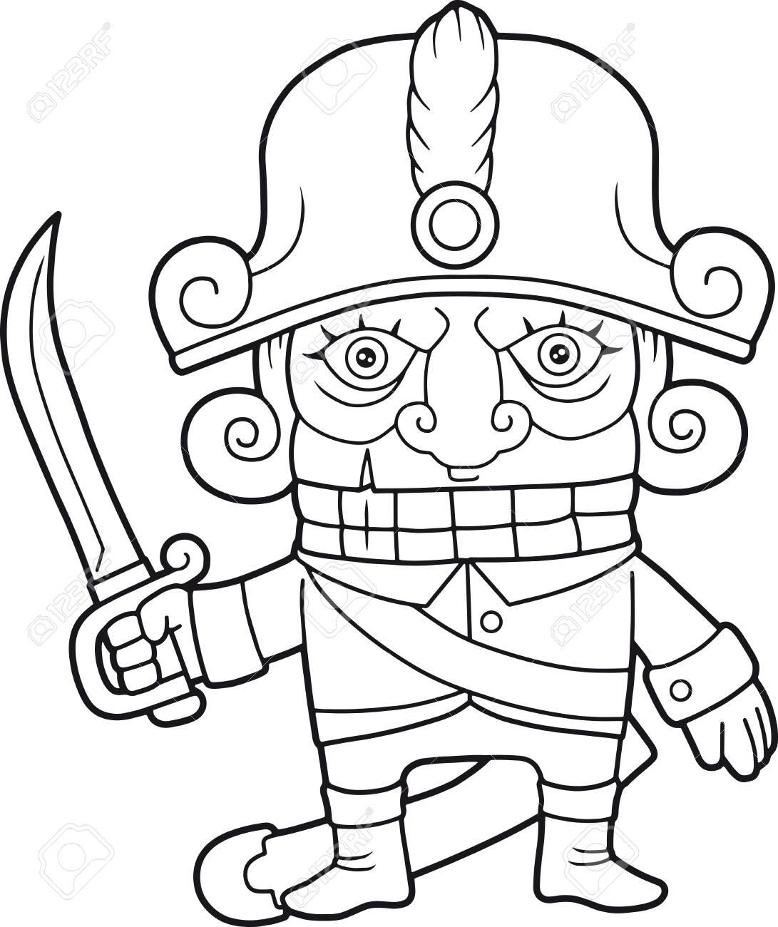 Cartoon Funny Nutcracker, Coloring Book Royalty Free Cliparts ...