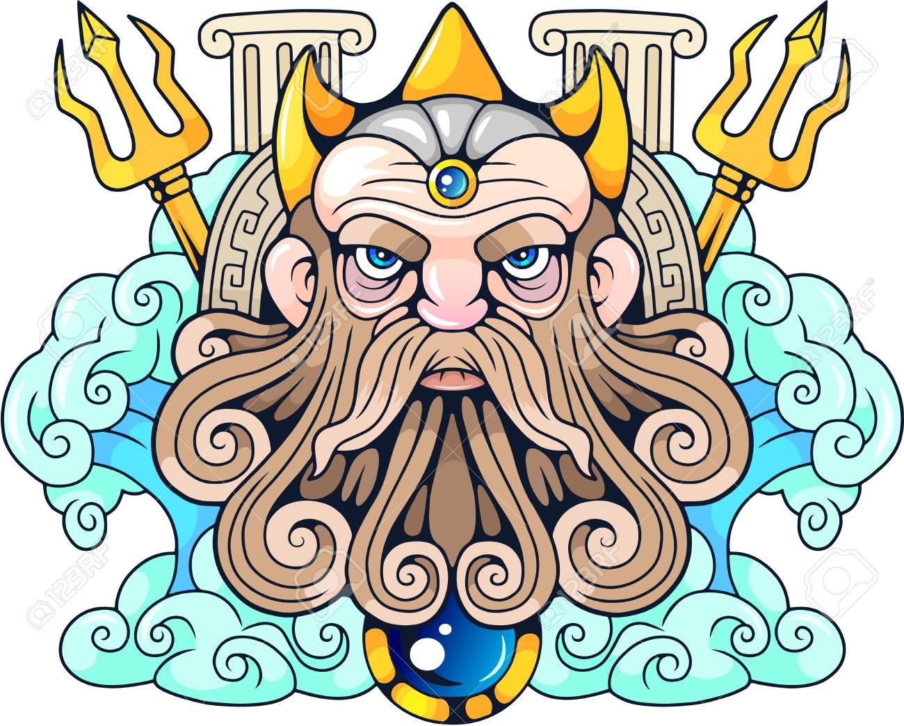 Legendary Ancient Greek God Poseidon Lord Of The Seas