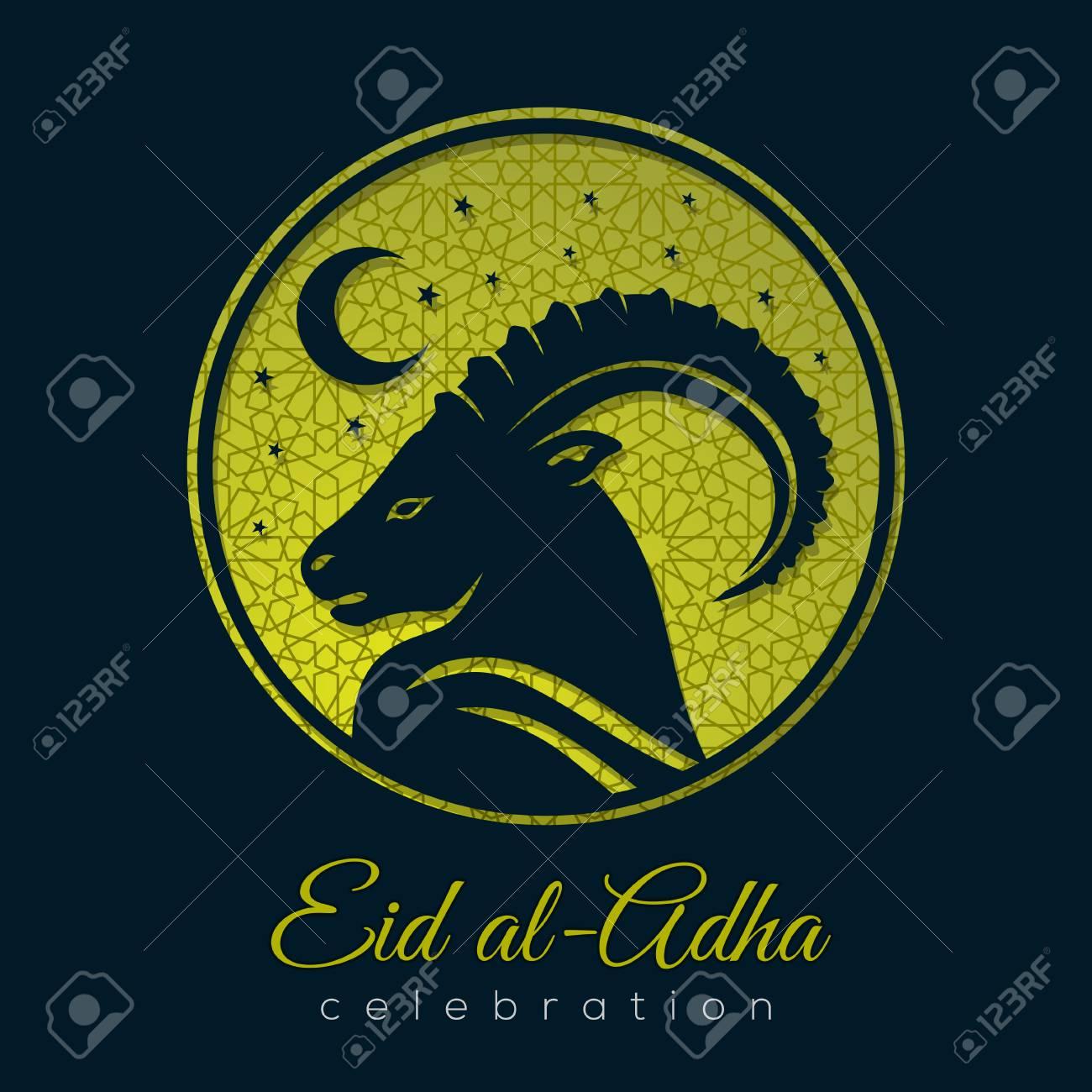 Muslim festival of sacrifice eid al adha greeting card with sheep muslim festival of sacrifice eid al adha greeting card with sheep stock vector m4hsunfo