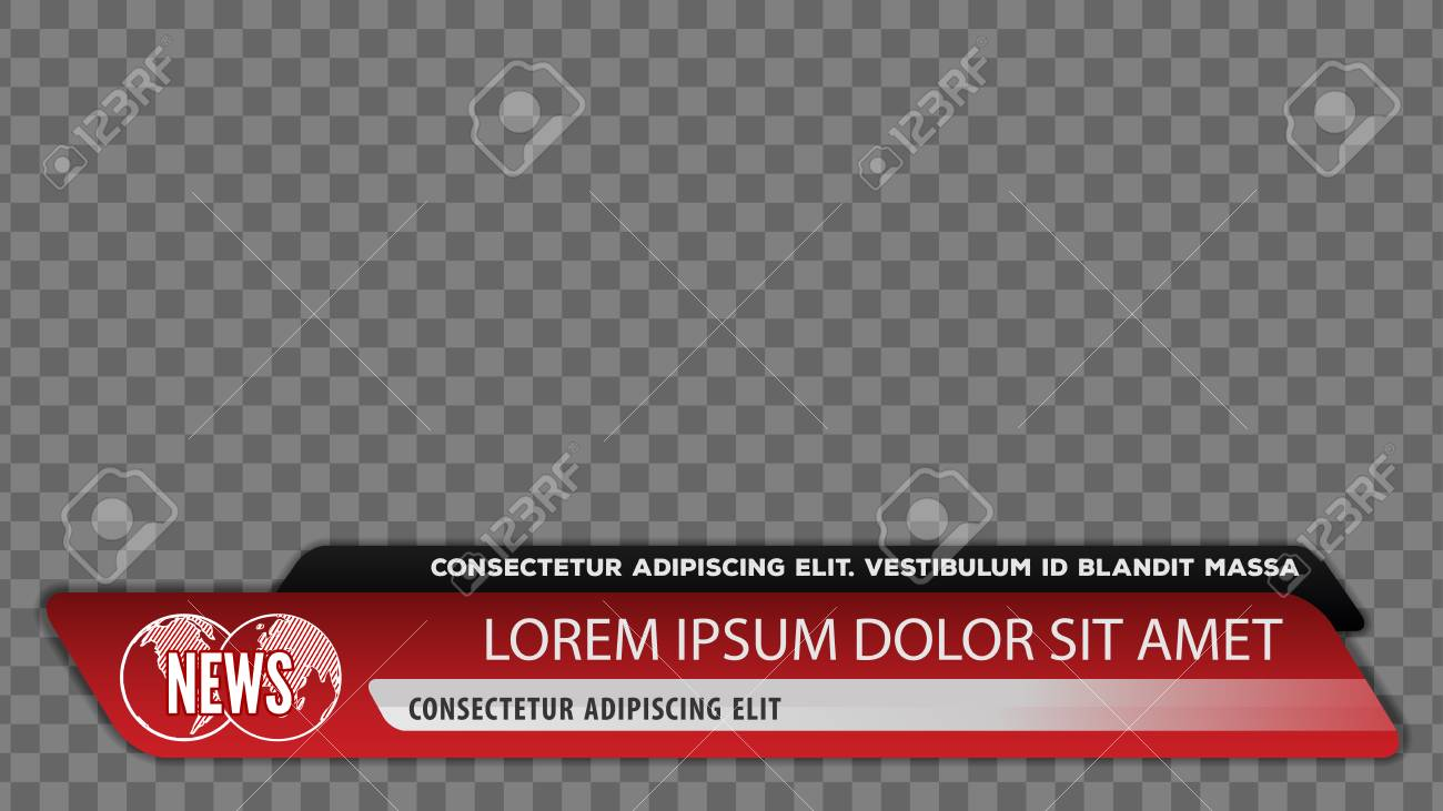 Tv news bars for Video headline title or lower third template. Vector illustration. - 112830196