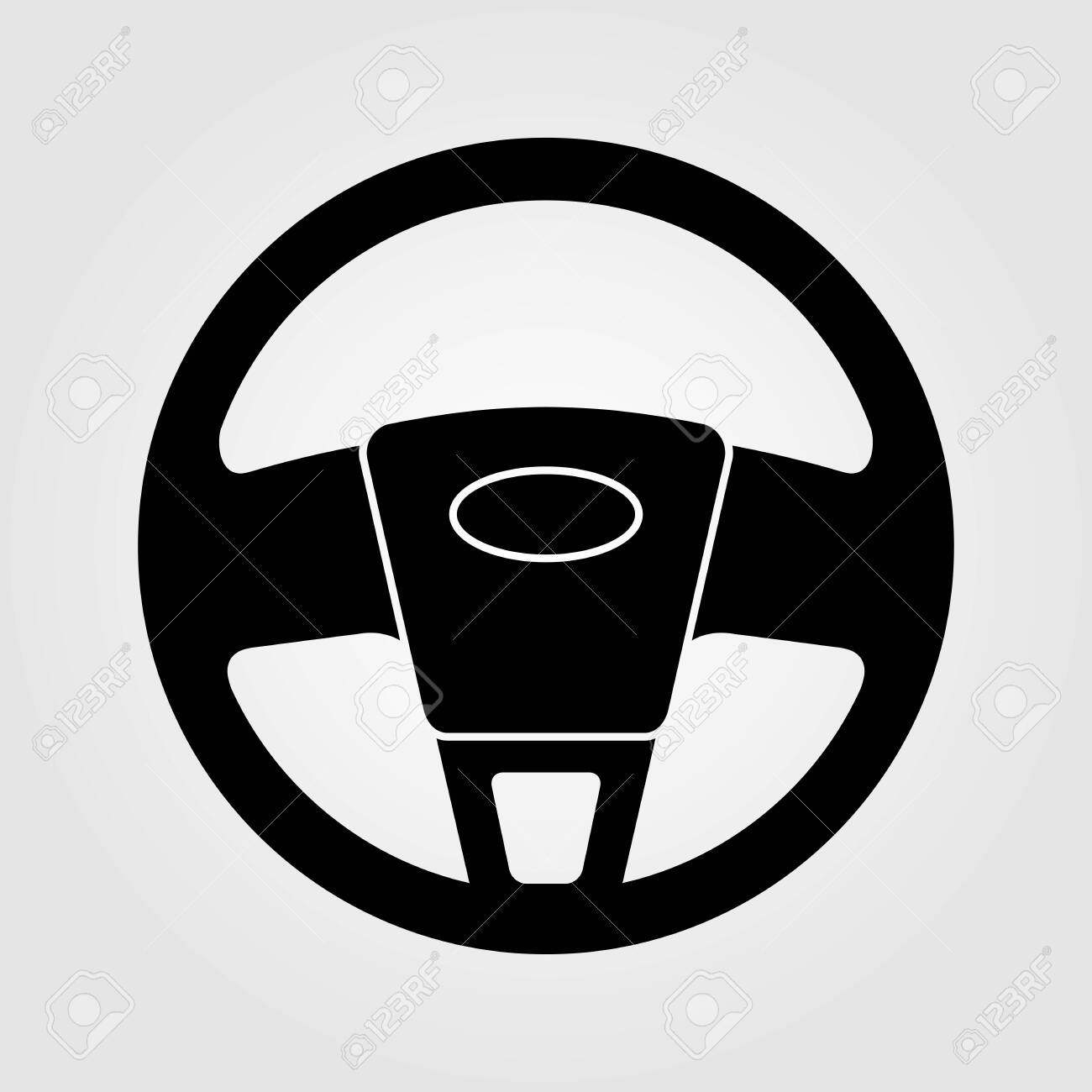 Car Steering wheel icon isolated on white background. Vector illustration. - 127324693