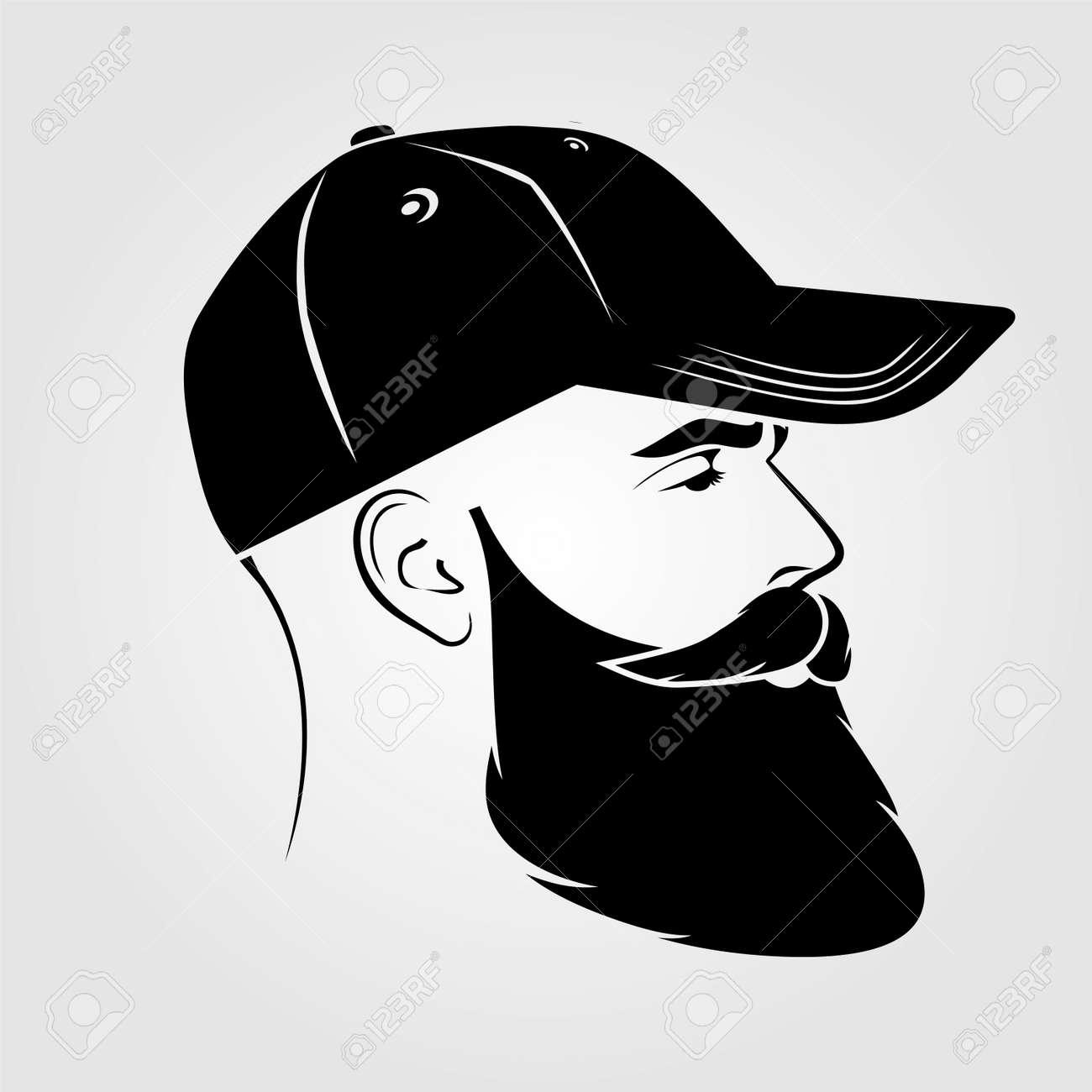 Bearded handsome men in a baseball cap. - 170170789