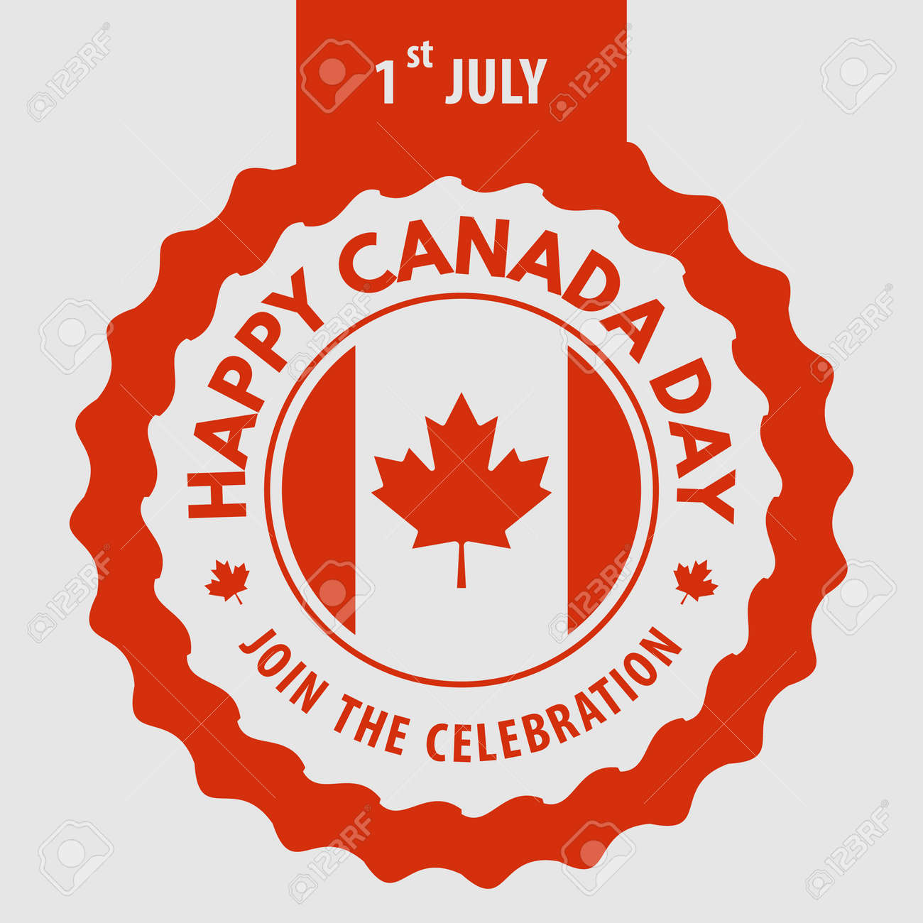 Happy Canada Day greeting card design concept. - 170170792
