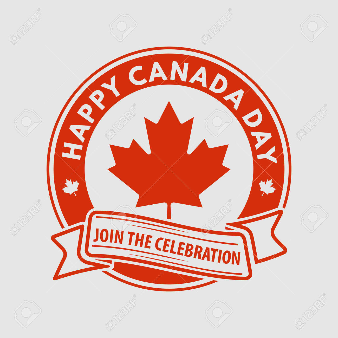 Happy Canada Day greeting card design concept. - 170170795