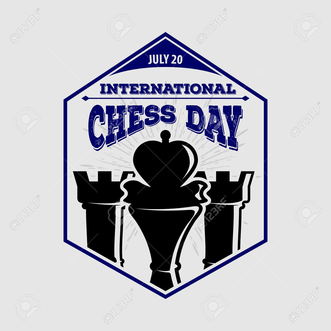 International Chess Day poster or banner design - 170170802