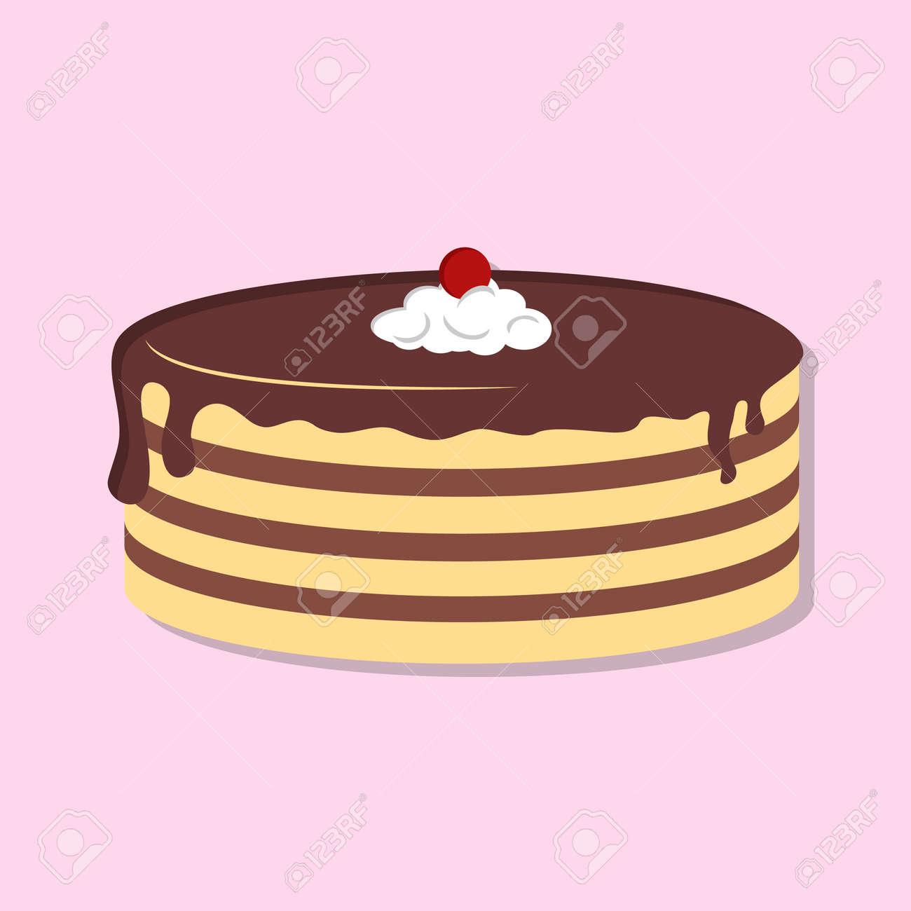 Cake isolated icon. Flat style vector illustration - 170423191