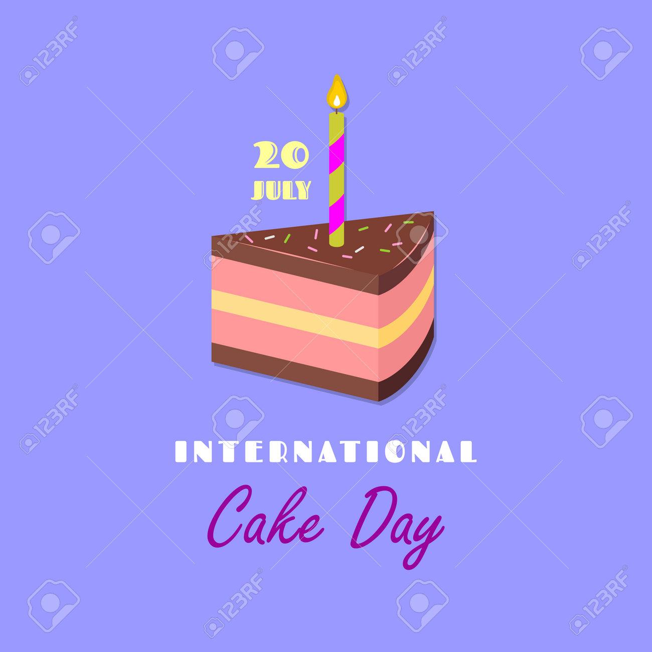 International Cake Day greeting card or banner - 170701117