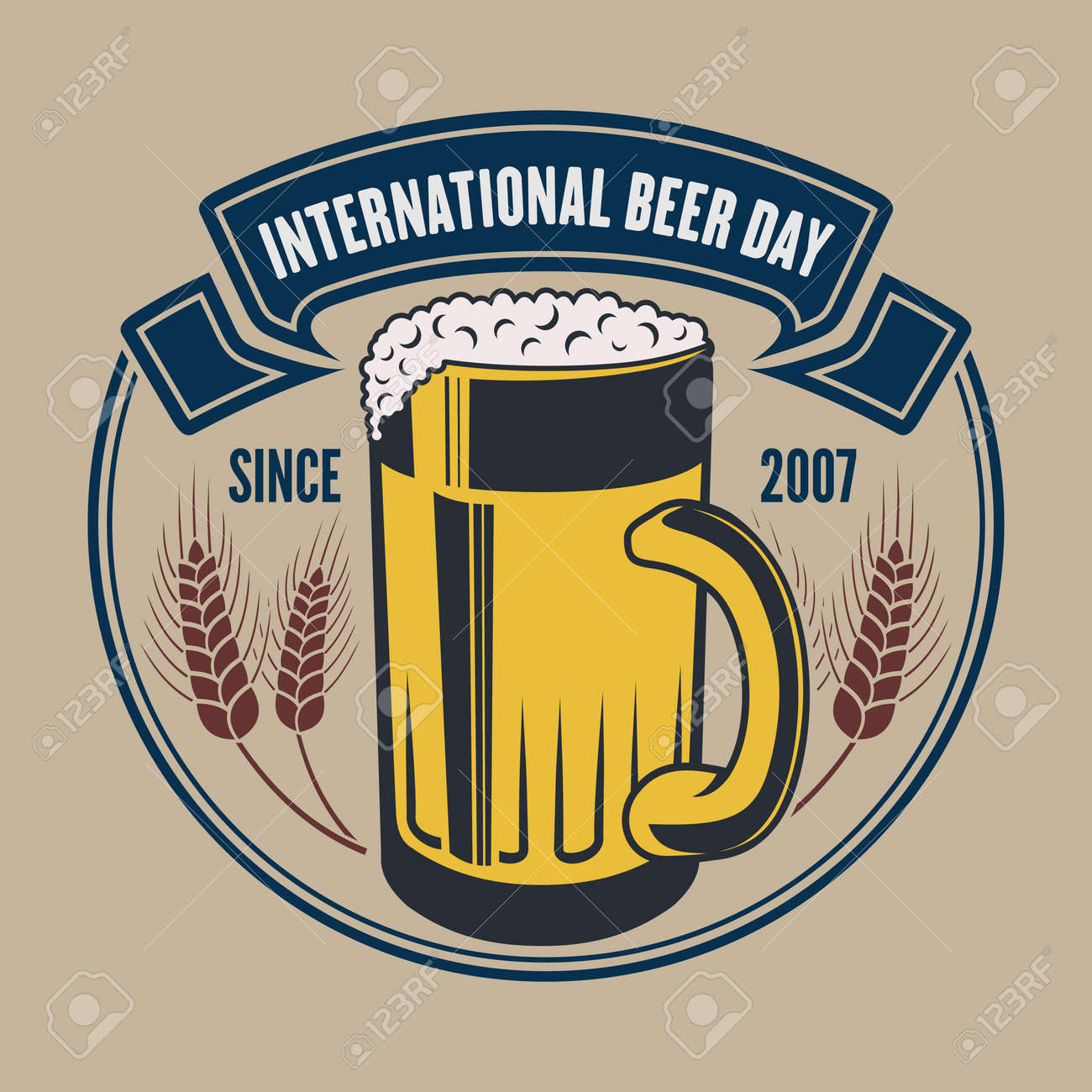 International Beer Day poster or banner template - 171153808