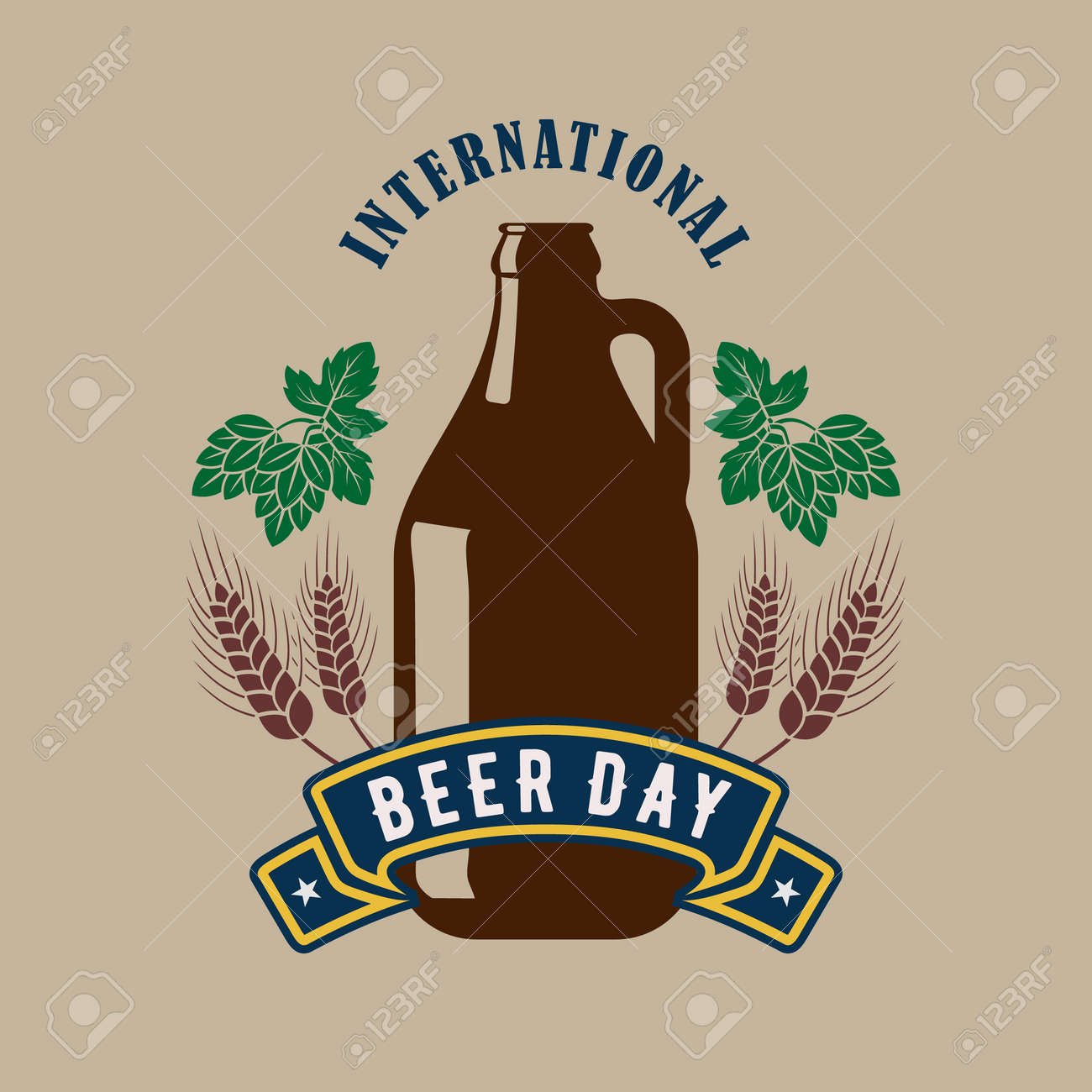International Beer Day poster or banner template - 171196876