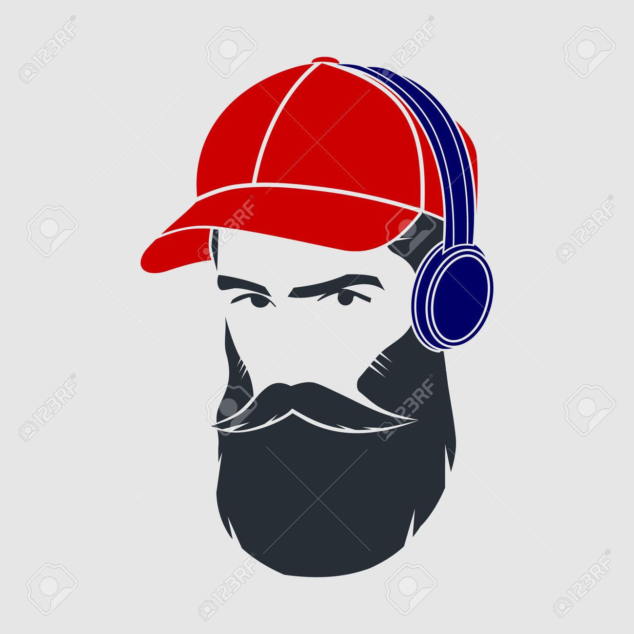 Men in a baseball cap and wireless headphones - 171377994