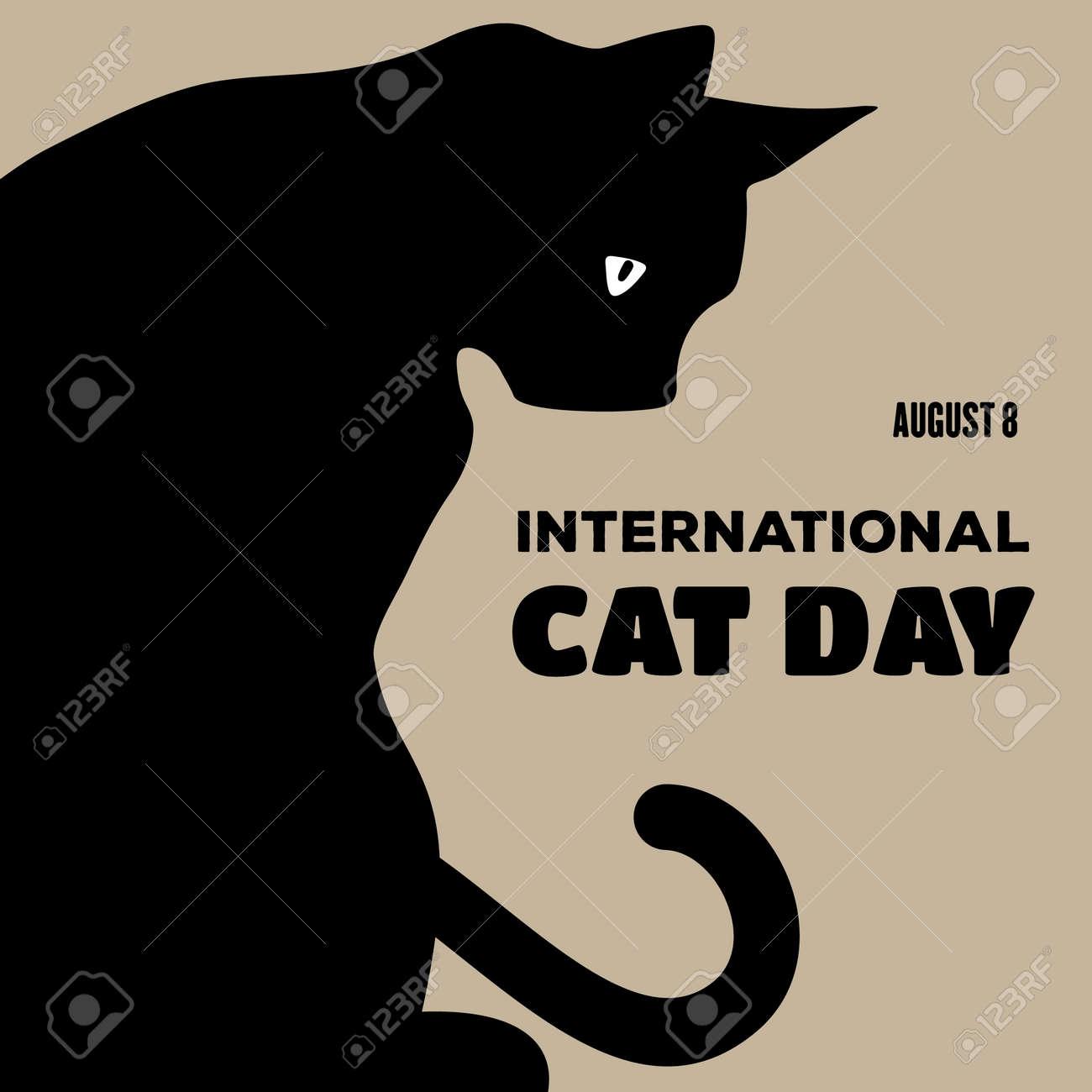 International Cat Day poster or banner design. - 171746955