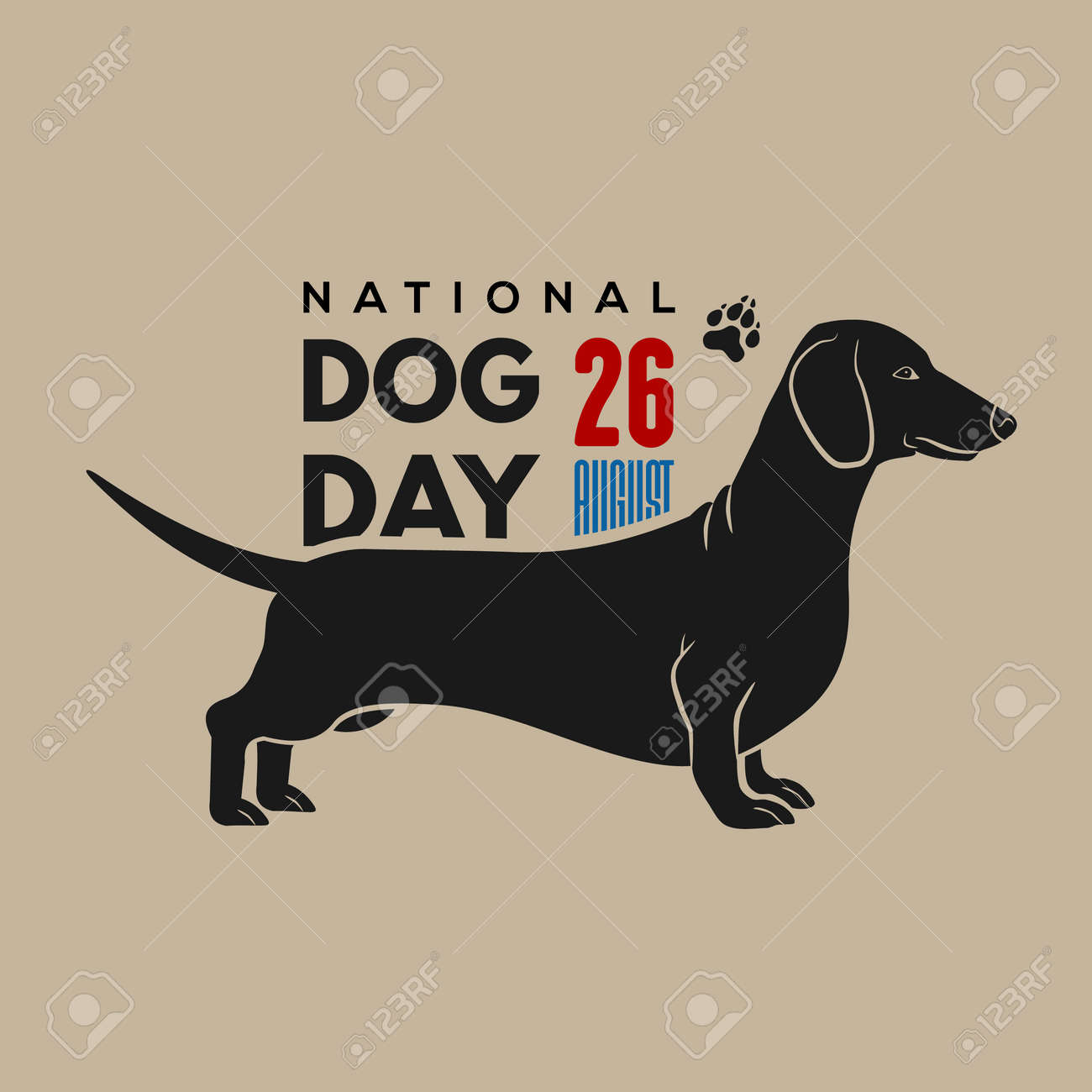 National Dog Day poster or banner design template - 171746956