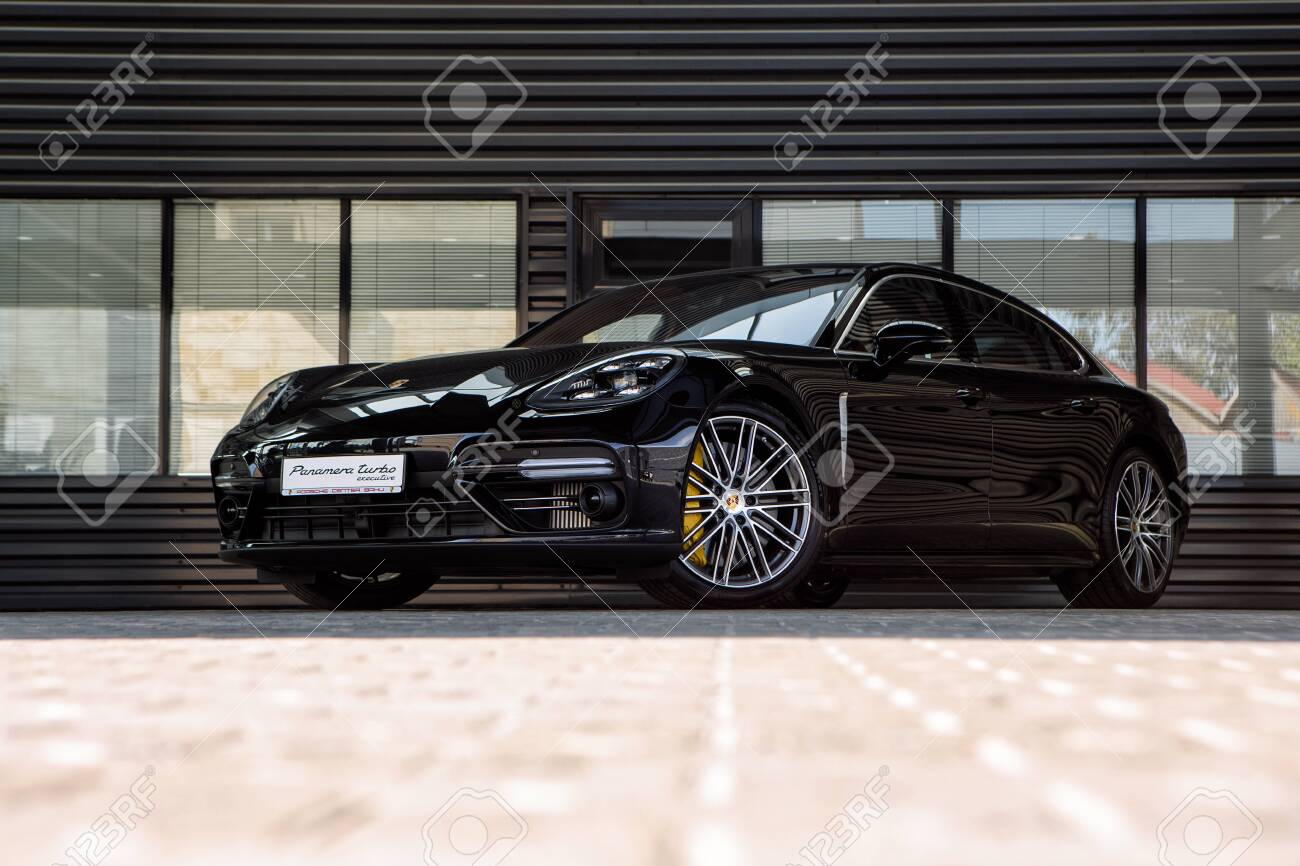 Black Porsche Panamera Turbo Outside Stock Photo Picture And Royalty Free Image Image 151156920